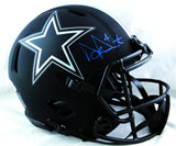 Dak Prescott Autographed Cowboys F/S Eclipse Speed Authentic Helmet - Beckett Auth *Blue