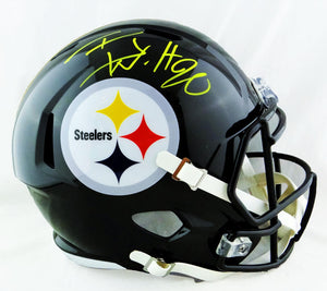TJ Watt Autographed Pittsburgh Steelers F/S Speed Helmet- JSA W Auth *Yellow