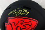 Tony Gonzalez Autographed Kansas City Chiefs F/S Eclipse Speed Helmet- Beckett W Auth *Yellow