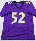 Ray Lewis Autographed Purple Pro Style Jersey w/HOF - Beckett W Auth *2