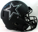 Tony Romo Autographed Dallas Cowboys F/S Eclipse Speed Helmet - Beckett W Auth *Blue