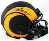 Kurt Warner Autographed Los Angeles Rams Eclipse Mini Helmet - Beckett W Auth *Black