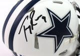 Tony Romo Autographed Dallas Cowboys Flat White Speed Mini Helmet - Beckett W Auth *Black
