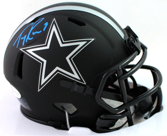 Tony Romo Autographed Dallas Cowboys Eclilpse Speed Mini Helmet - Beckett W Auth *Blue