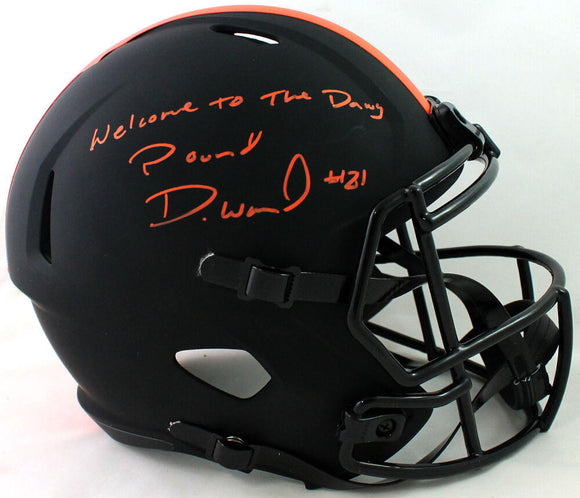 Denzel Ward Autographed Cleveland Browns F/S Eclipse Speed Helmet - JSA W Auth *Orange