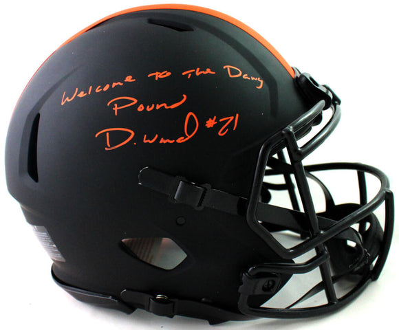 Denzel Ward Signed Browns F/S Eclipse Speed Authentic Helmet w/ Insc- JSA W Auth