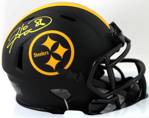 Hines Ward Autographed Pittsburgh Steelers Eclipse Speed Mini Helmet - Beckett W Auth *Yellow