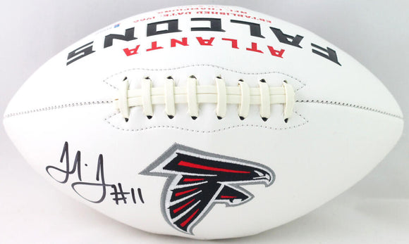 Julio Jones Autographed Atlanta Falcons Logo Football - Beckett W Auth *Black