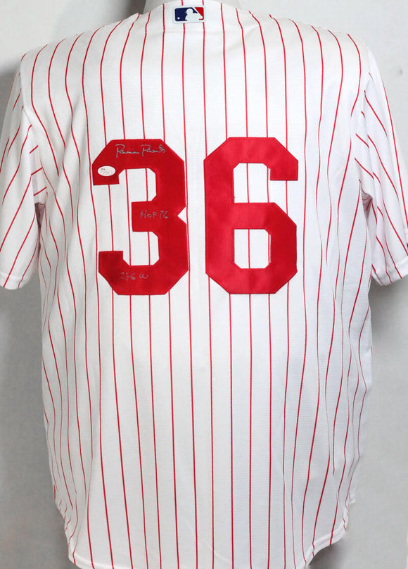 Robin Roberts Autographed Phillies Pinstripe Majestic Jersey w/ 2 Insc - JSA W Auth *3