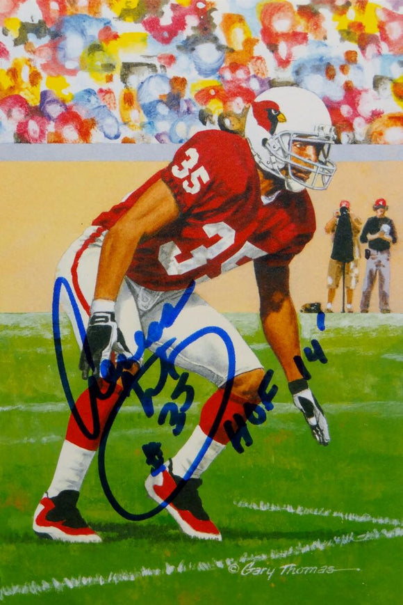 Aeneas Williams Signed Arizona Cardinals Goal Line Art Card W/ HOF- JSA W Auth