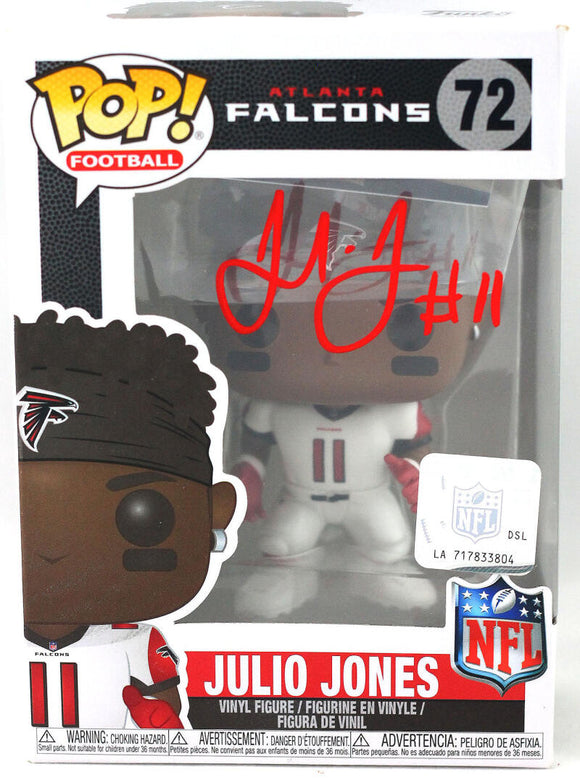 Julio Jones Autographed Atlanta Falcons Funko Pop Figurine - Beckett W Auth *Red