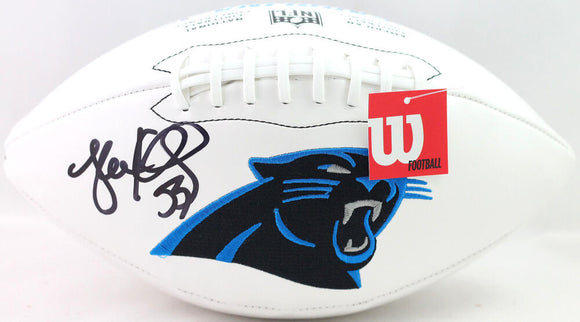 Luke Kuechly Autographed Carolina Panthers Logo Football - Beckett W Auth *Black
