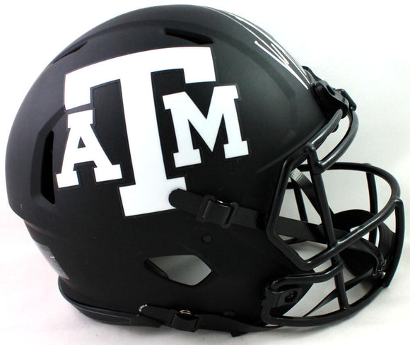 Von Miller Autographed Texas A&M Aggies F/S Eclipse Speed Authentic Helmet - JSA W Auth *Silver