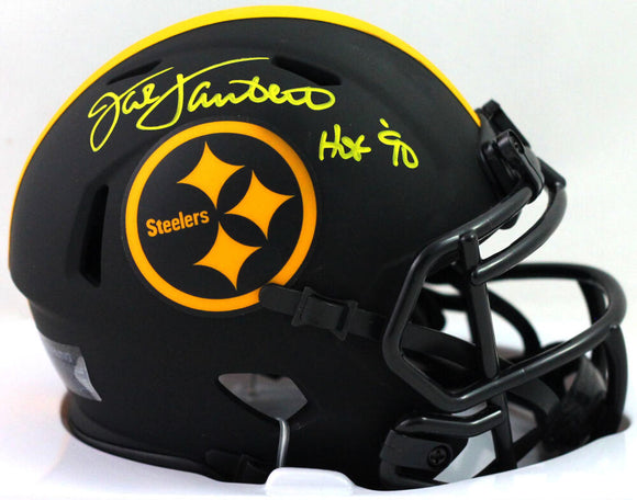 Jack Lambert Signed Steelers Eclipse Mini Helmet With HOF- JSA W *Yellow