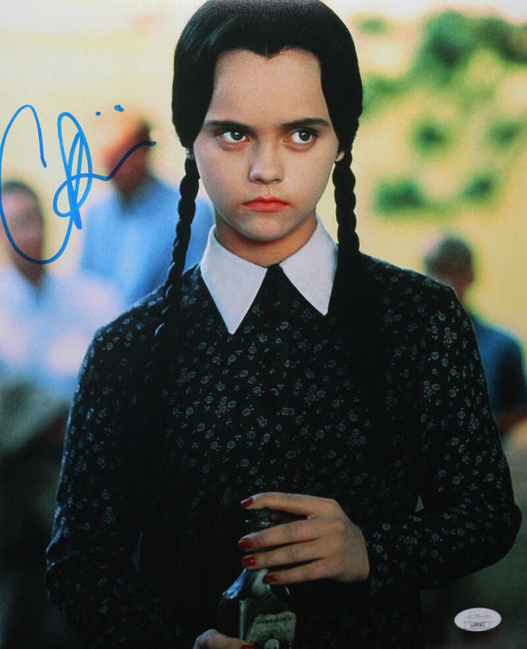 Christina Ricci Autographed 11x14 Photo Addams Family Movie Close Up - JSA Auth *Blue