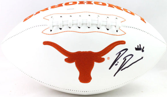Devin Duvernay Autographed Texas Longhorns Logo Football- JSA Witnessed