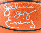 Julius Erving Autographed NBA Spalding Basketball- Beckett Witnessed *Silver