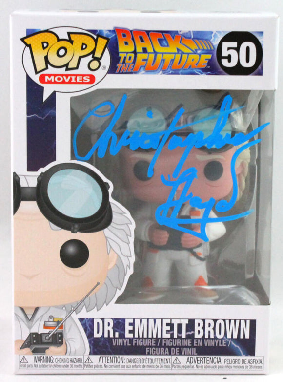 Christopher Lloyd Autographed Funko Pop! #50 Dr. Emmett Brown - JSA *Blue