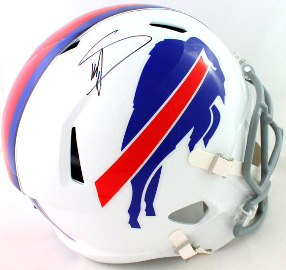 Stefon Diggs Autographed Buffalo Bills Full Size Speed Helmet - Beckett Witness *Black