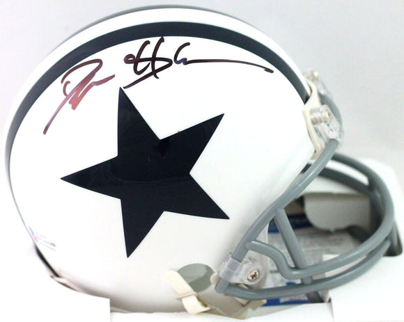 Deion Sanders Autographed Dallas Cowboys White 2004 Mini Helmet- Beckett W *Black