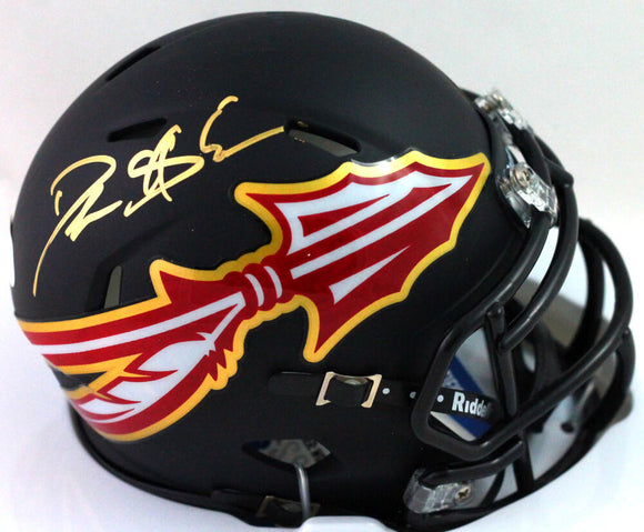 Deion Sanders Autographed Florida State Amp Speed Mini Helmet - Beckett W *Gold