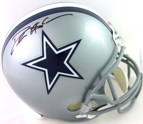 Deion Sanders Autographed Dallas Cowboys Full Size Helmet- Beckett W *Black