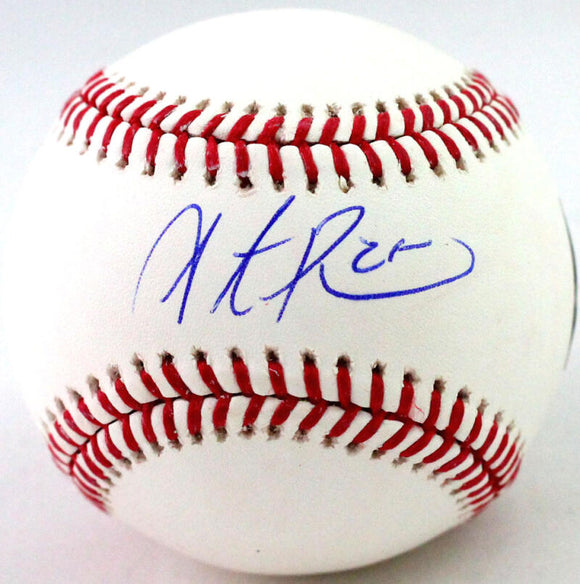Steve Pearce Autographed Rawlings OML Baseball- Fanatics Authenticated