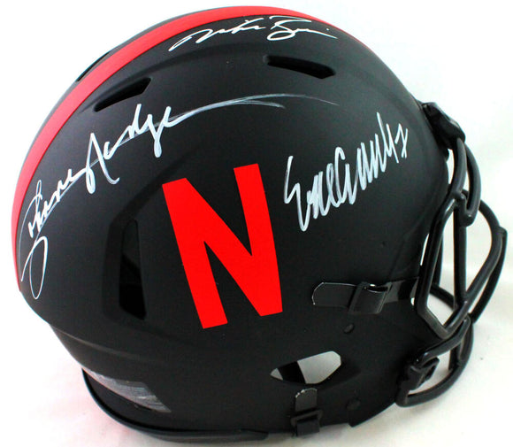 Nebraska Heisman Autographed F/S Eclipse Speed Authentic Helmet- JSA W *White