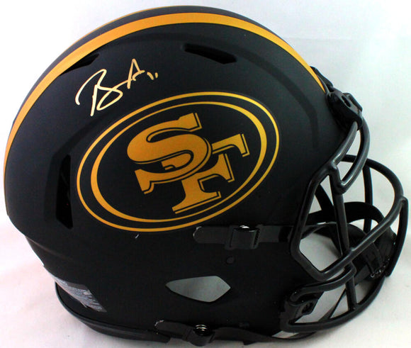 Brandon Aiyuk Autographed 49ers Authentic Eclipse Speed FS Helmet Beckett W*Gold