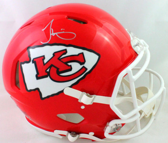 Tyreek Hill Autographed KC Chiefs F/S Speed Authentic Helmet - Beckett W *Silver