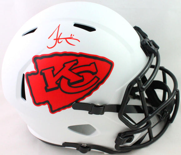 Tyreek Hill Autographed KC Chiefs Full Size Lunar Speed Helmet- Beckett W *Red