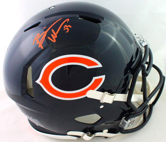 Brian Urlacher Signed Bears Authentic Eclipse Speed F/S Helmet- Beckett W*Orange