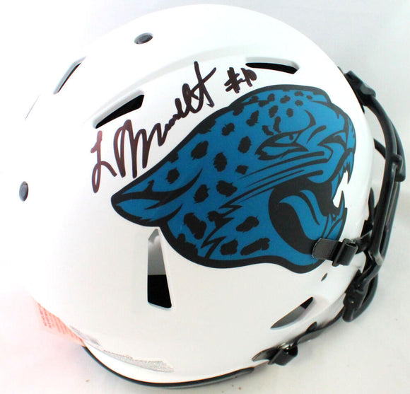 Laviska Shenault Signed Jaguars Authentic Lunar Speed FS Helmet- Beckett W*Black