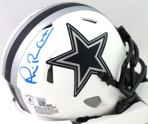 Michael Irvin Autographed Dallas Cowboys Lunar Speed Mini Helmet- Beckett W *Blk
