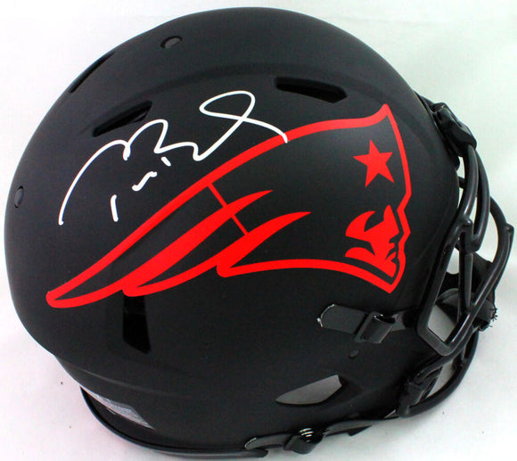 Tom Brady Signed NE Patriots Eclipse Speed Authentic F/S Helmet- Fanatics/LOA W *Sil
