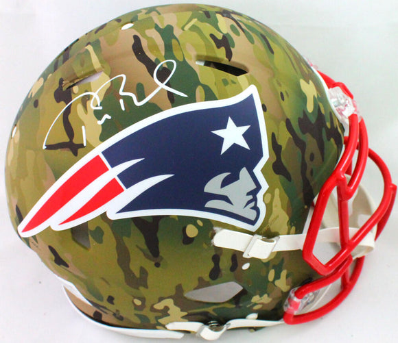 Tom Brady Signed NE Patriots Speed Camo Authentic F/S Helmet- Fanatics/LOA *White
