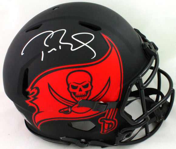 Tom Brady Signed TB Buccaneers Eclipse Speed Authentic FS Helmet- Fanatics/LOA *Sil