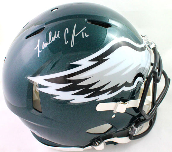 Randall Cunningham Autographed Eagles Authentic Speed F/S Helmet- Beckett W *Sil