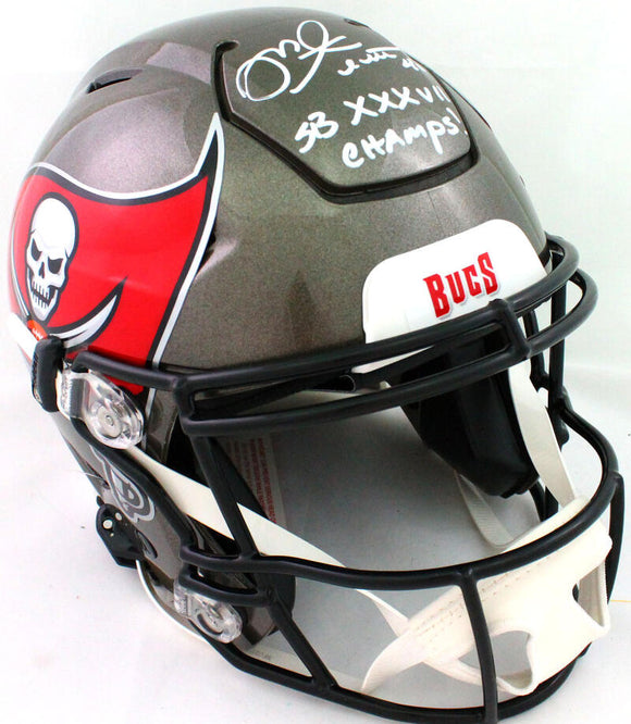 Mike Alstott Autographed Bucs Authentic SpeedFlex F/S Helmet SB- Beckett W*White