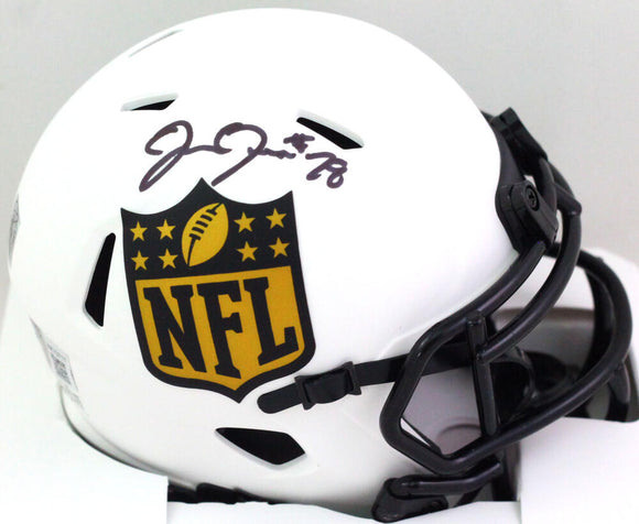 Josh Jacobs Autographed NFL Shield Lunar Mini Helmet- Beckett W *Black
