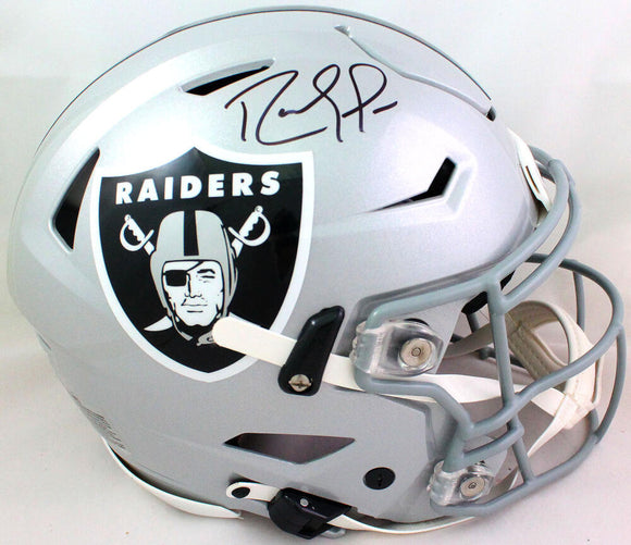 Randy Moss Autographed Raiders F/S SpeedFlex Authentic Helmet- Beckett W *Black