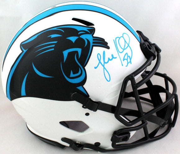 Luke Kuechly Autographed Panthers Authentic Lunar FS Helmet- Beckett W*Baby Blue