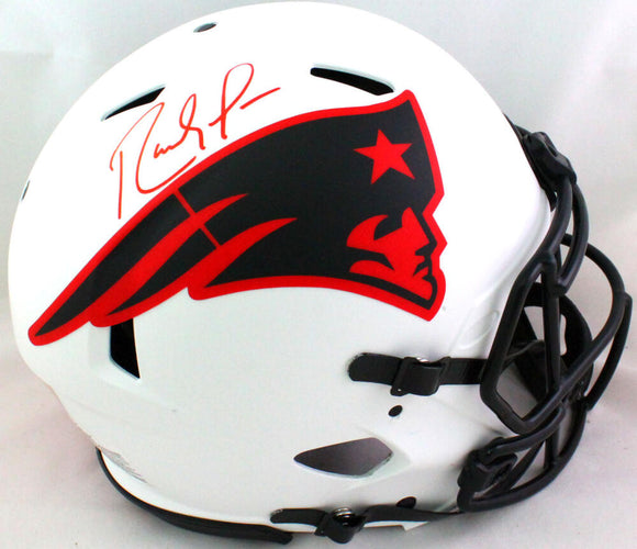 Randy Moss Autographed Patriots Lunar Speed Authentic F/S Helmet- Beckett W *Red