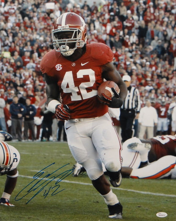 Eddie Lacy Autographed 16x20 Alabama Vertical Running Photo- JSA Authenticated