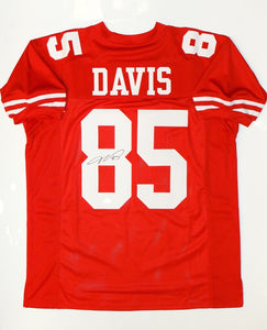 Vernon Davis Signed / Autographed Red Jersey- JSA Authenticated