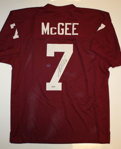 Stephen McGee Autographed Maroon Jersey- TriStar Authenticated