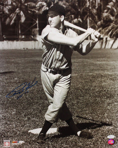 Ralph Kiner Autographed 16x20 B&W With Bat Photo- JSA Authenticated