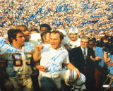 1972 17-0 Perfect Season Autographed 16x20 Cheering Photo- JSA W Authenticated