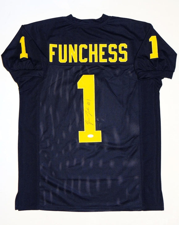 Devin Funchess Autographed Navy Blue College Style Jersey- JSA W Auth