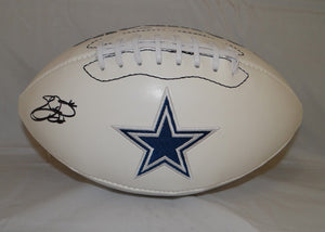 Emmitt Smith Autographed Dallas Cowboys Logo Football- JSA W Authenticated